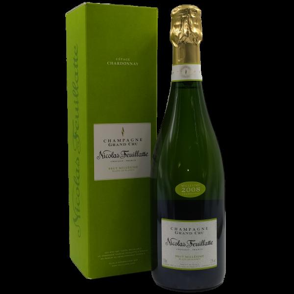 Brut Blanc de Blancs Grand Cru Champagne AOC 2008 Nicolas Feuillatte