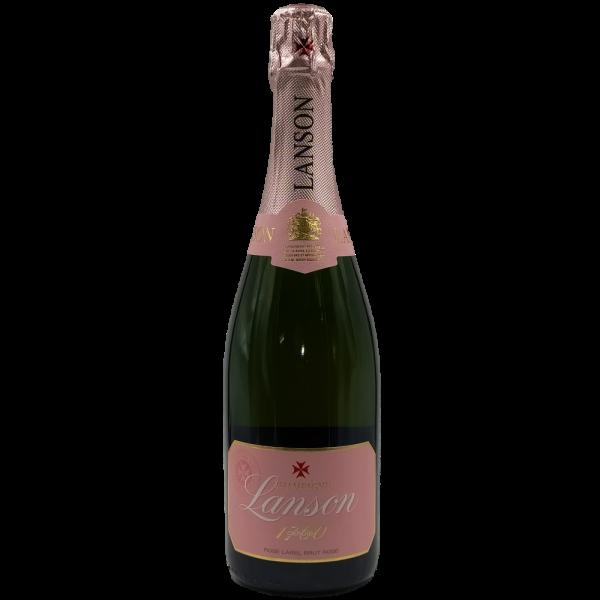 Rose Label Brut Rosé Champgne AOC Lanson