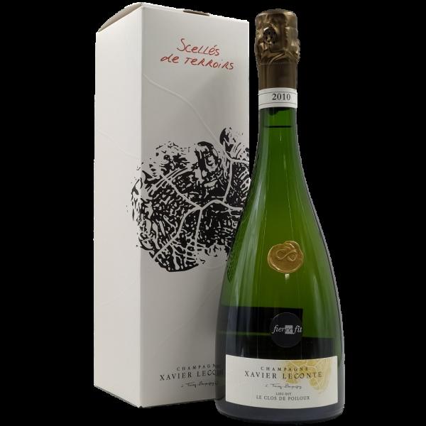 champagne le clos de poiloux extra brut mellesime 2010 xavier leconte