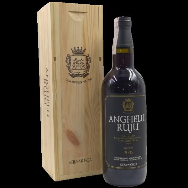 Anghelu Ruju Vino Liquoroso Riserva 2005 Aghero DOC Sella e Mosca scatola legno